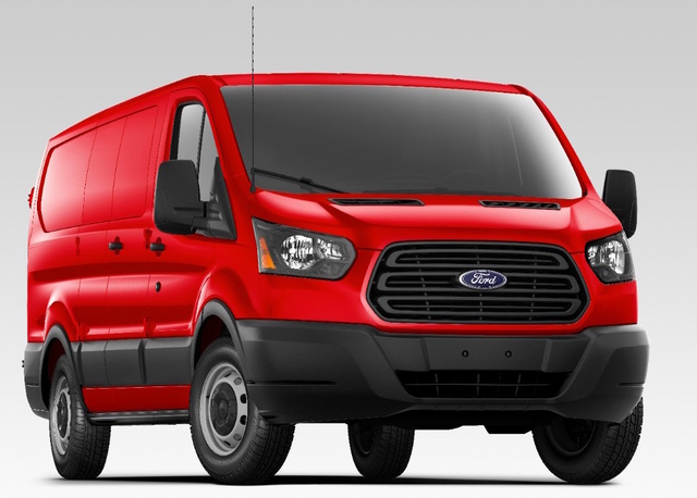2017 Ford Transit Cargo, Front-quarter view., exterior, manufacturer
