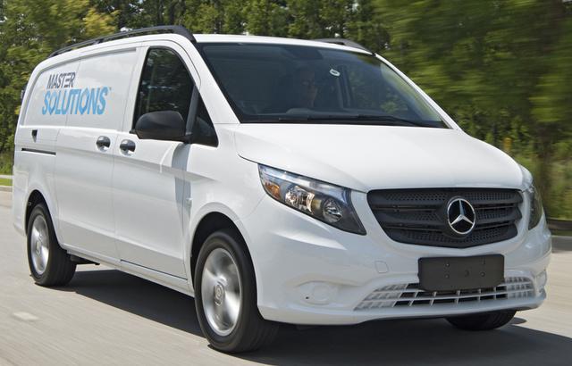 2017 Mercedes-Benz Metris Cargo, Front-quarter view., exterior, manufacturer