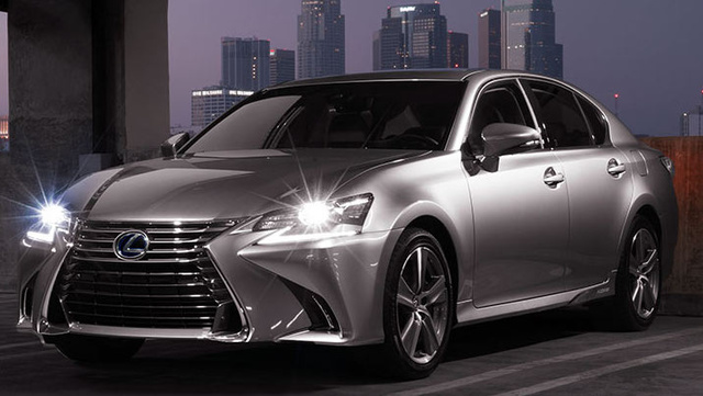 2017 Lexus GS 450h, Front-quarter view., exterior, manufacturer, gallery_worthy