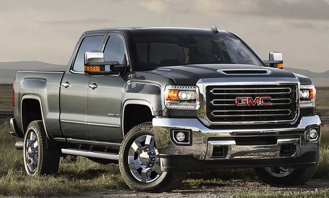 2017 GMC Sierra 3500HD, Front-quarter view., exterior, manufacturer, gallery_worthy