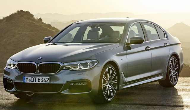 2017 BMW 5 Series, Front-quarter view of European version., gallery_worthy