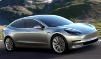 2018 Tesla Model 3, Front-quarter view., exterior, manufacturer, gallery_worthy