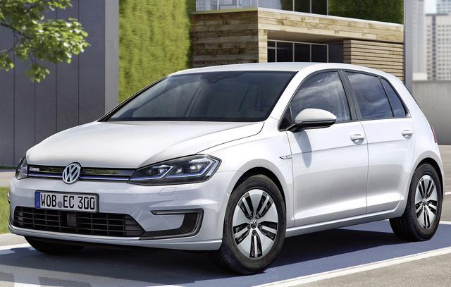 2017 Volkswagen e-Golf, Front-quarter view of European version., exterior, manufacturer, gallery_worthy