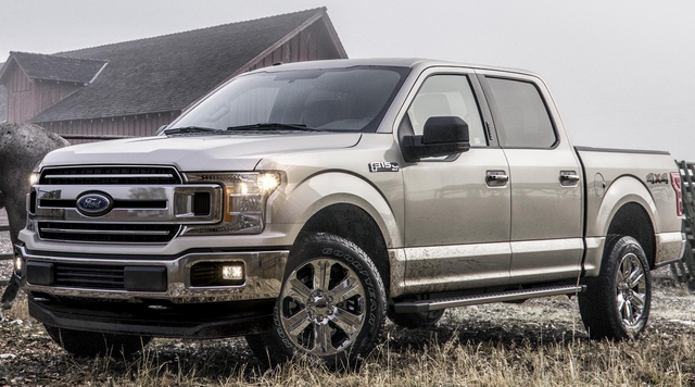 2018 Ford F-150, Front-quarter view., exterior, manufacturer, gallery_worthy