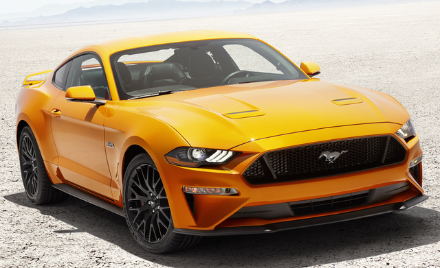 2018 Ford Mustang, Front-quarter view.