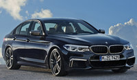 2018 BMW 5 Series, Front-quarter view of European version., exterior, manufacturer, gallery_worthy