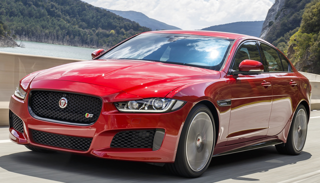 2018 Jaguar XE, Front-quarter view., exterior, manufacturer, gallery_worthy