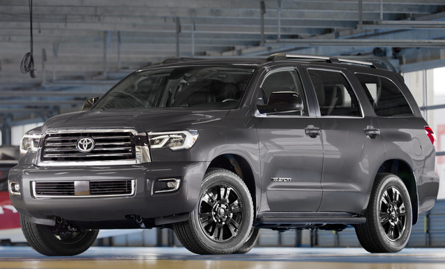2018 Toyota Sequoia, Front-quarter view., exterior, manufacturer, gallery_worthy