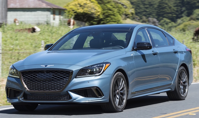 2018 Genesis G80, Front-quarter view., exterior, manufacturer, gallery_worthy