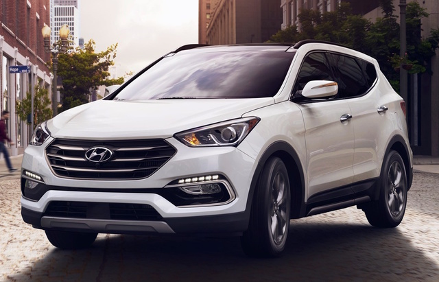2018 Hyundai Santa Fe Sport, Front-quarter view., exterior, manufacturer, gallery_worthy