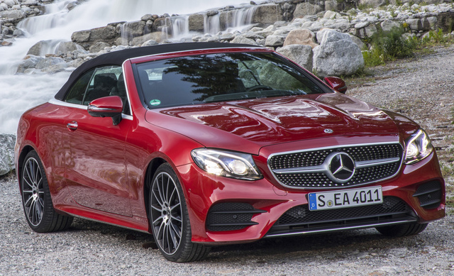 2018 Mercedes-Benz E-Class, Front-quarter view of European version., gallery_worthy