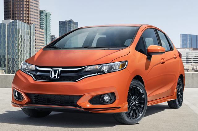 2018 Honda Fit, Front-quarter view., exterior, manufacturer