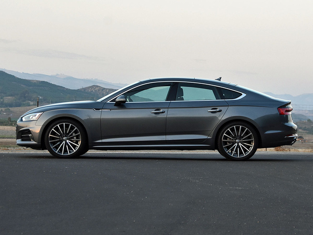 2018 Audi A5 Sportback in Premium Plus trim and Manhattan Gray paint, gallery_worthy
