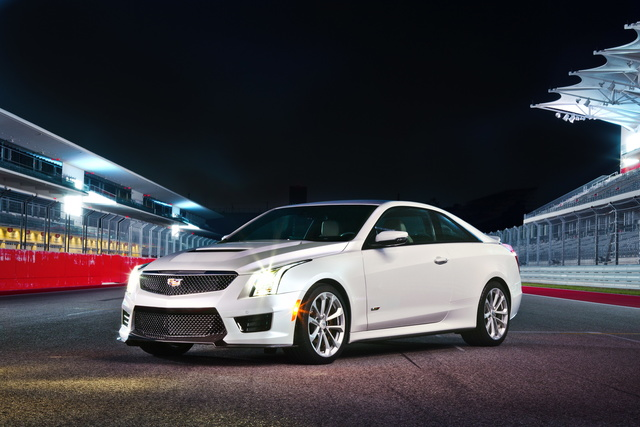 2018 Cadillac ATS-V Coupe, Three-quarter view of the 2018 CadillacAT, exterior, manufacturer