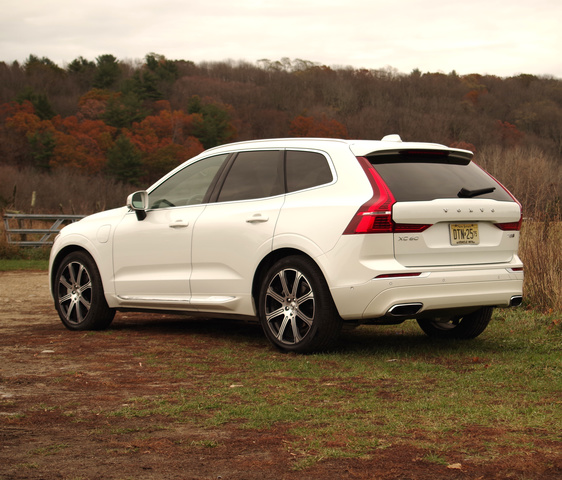 The 2018 Volvo XC60 is smaller than the three-row XC90