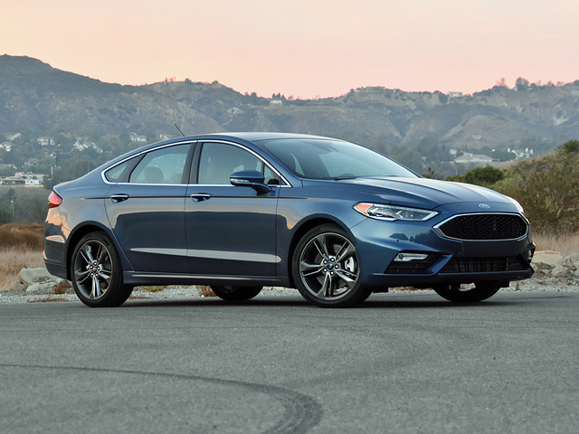 2018 Ford Fusion Sport in Blue Metallic, exterior