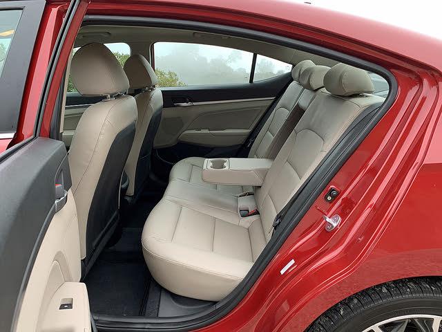 2019 Hyundai Elantra Limited Beige Leather Back Seat, gallery_worthy