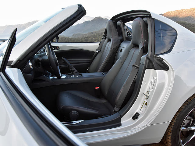 2019 Mazda MX-5 Miata RF Black Leather Front Seats, gallery_worthy