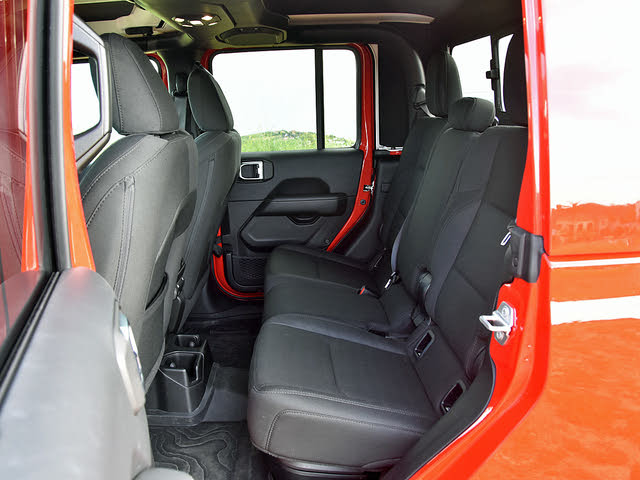 2020 Jeep Gladiator Overland Black Cloth Back Seat, gallery_worthy