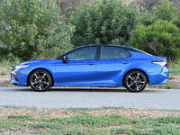 2019 Toyota Camry XSE in Blue Streak Midnight Black Side View, gallery_worthy