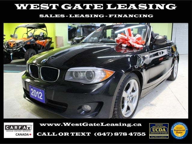 2012 BMW 1 Series 128i Convertible RWD