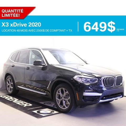 2020 BMW X3 xDrive30i AWD