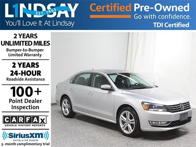 2013 Volkswagen Passat TDI SE with Sunroof and Nav