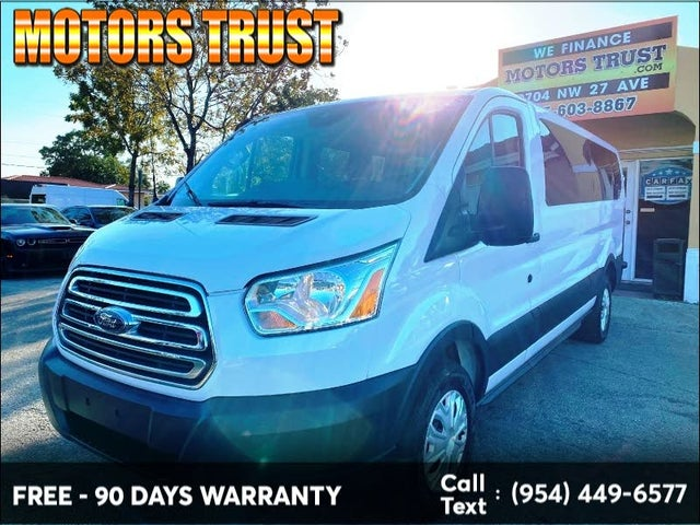 2016 Ford Transit Passenger 350 XLT Low Roof LWB RWD with Sliding Passenger-Side Door