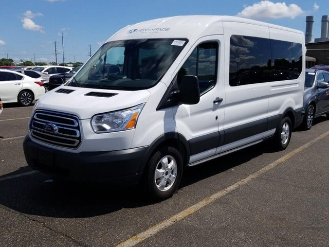 2018 Ford Transit Passenger 350 XLT Medium Roof LWB RWD with Sliding Passenger-Side Door