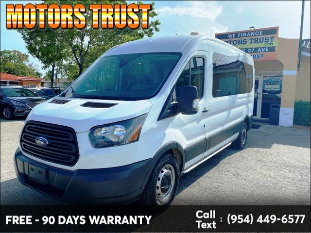 2017 Ford Transit Passenger 350 XL Medium Roof LWB RWD with Sliding Passenger-Side Door