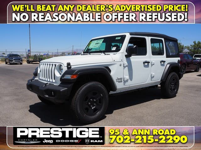 New Jeep Wrangler Unlimited For Sale In Las Vegas Nv Cargurus