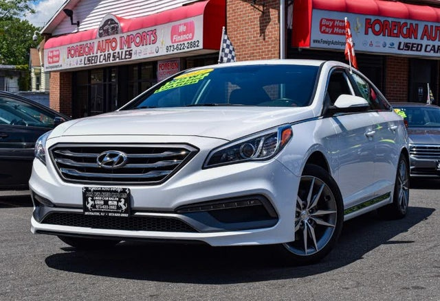 2017 Hyundai Sonata 2.0T Sport FWD with Black Leather Interior