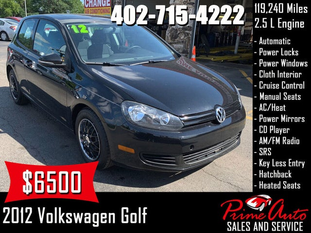 2012 Volkswagen Golf 2.5L with Conv and Sunroof 2dr