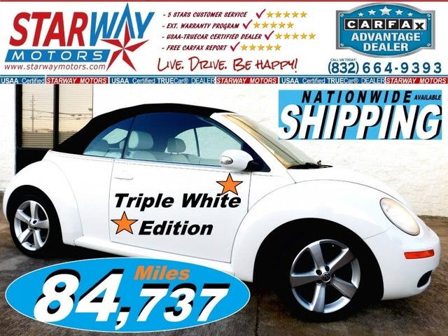 2007 Volkswagen Beetle Triple White Convertible