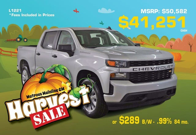 2020 Chevrolet Silverado 1500 Custom Crew Cab LB 4WD