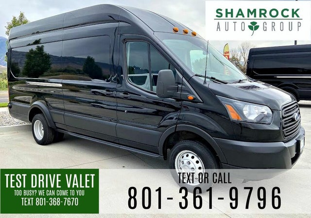 2019 Ford Transit Cargo 350 HD 9950 GVWR Extended High Roof LWB DRW RWD with Sliding Passenger-Side Door
