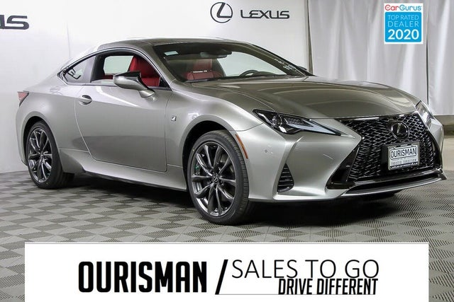 used 2021 lexus rc 300 f sport awd for sale right now
