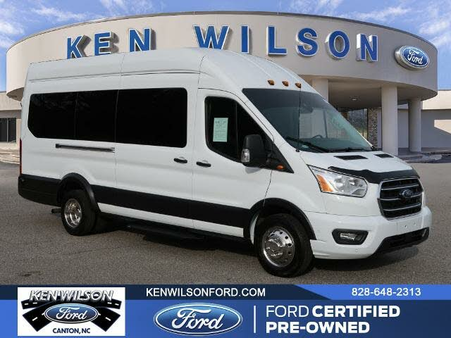 2020 Ford Transit Passenger 350 HD XL Extended High Roof LWB DRW RWD with Sliding Passenger-Side Door