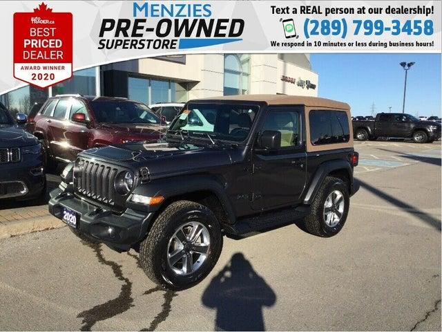 2020 Jeep Wrangler Black and Tan 4WD