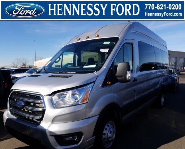 2020 Ford Transit Passenger 350 HD XLT Extended High Roof LWB DRW RWD with Sliding Passenger-Side Door