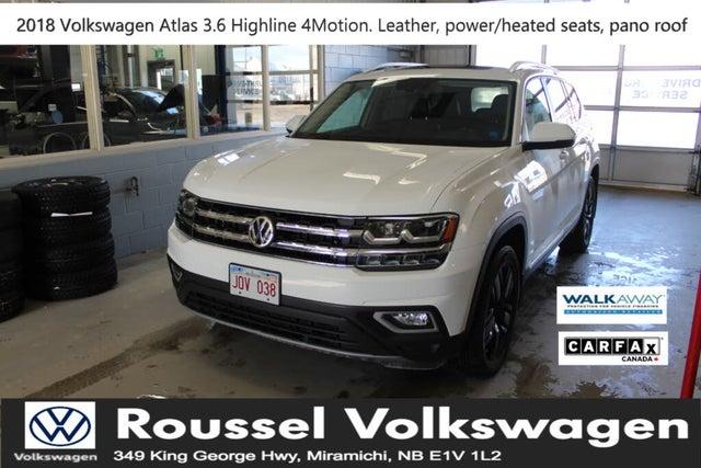 2018 Volkswagen Atlas 3.6L Highline 4Motion