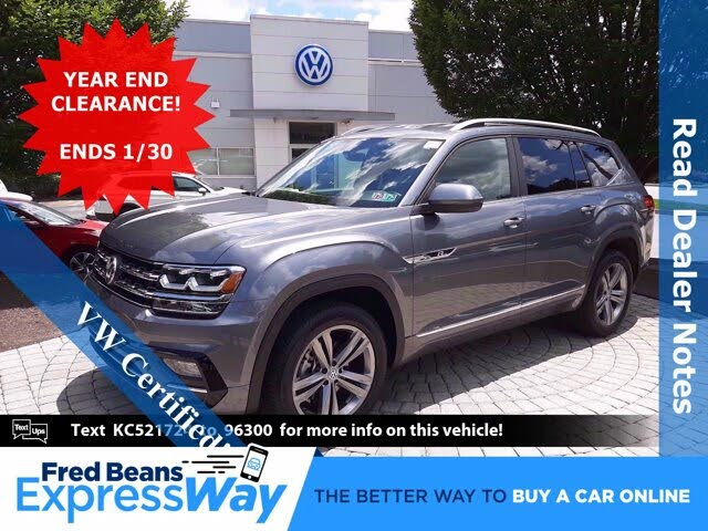 2019 Volkswagen Atlas SE 4Motion AWD with Technology R-Line