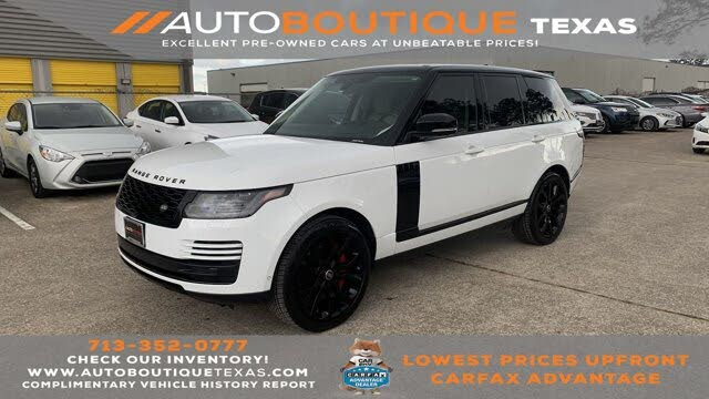 2018 Land Rover Range Rover V8 Supercharged LWB 4WD