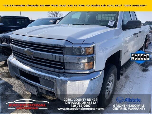 2018 Chevrolet Silverado 2500HD Work Truck Double Cab LB RWD