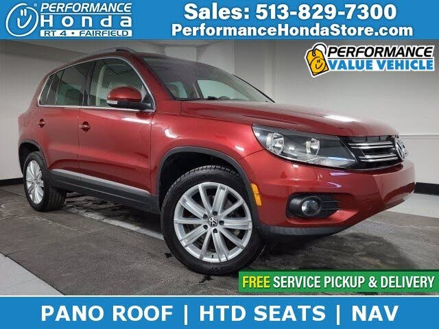 2012 Volkswagen Tiguan SE 4Motion AWD with Sunroof and Navigation