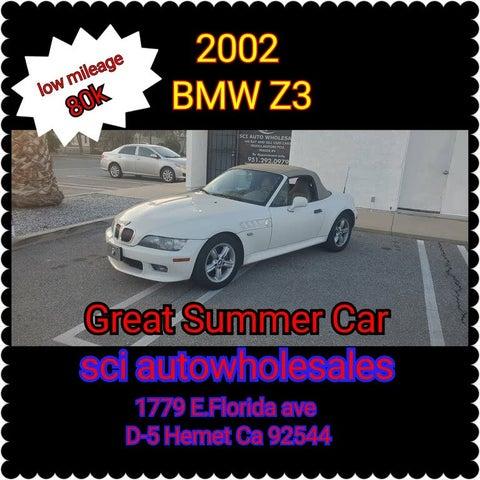 2002 BMW Z3 2.5i Roadster RWD
