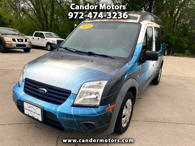 2010 Ford Transit Connect Cargo XLT FWD with Side and Rear Glass