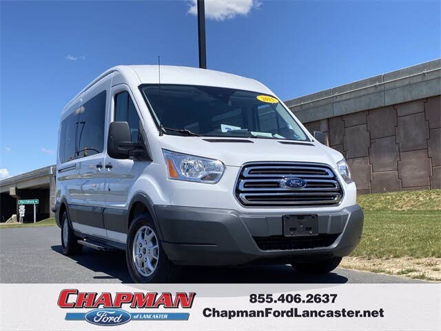 2015 Ford Transit Passenger 350 XLT Medium Roof LWB RWD with Sliding Passenger-Side Door