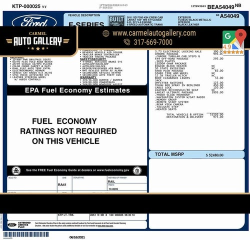 2011 Ford F-350 Super Duty Lariat Crew Cab 4WD