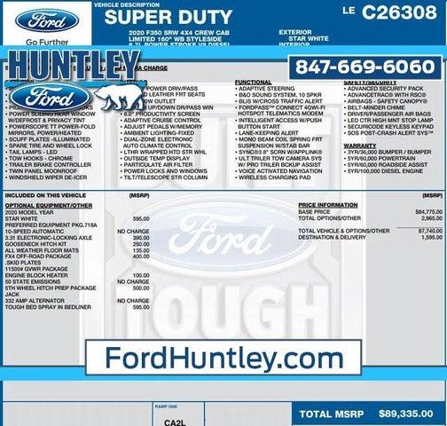2020 Ford F-350 Super Duty Limited Crew Cab 4WD
